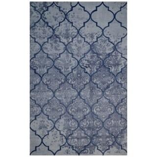 Handmade Modern Style Grey Wool Big Indoor Area Rug - 5' x 8'