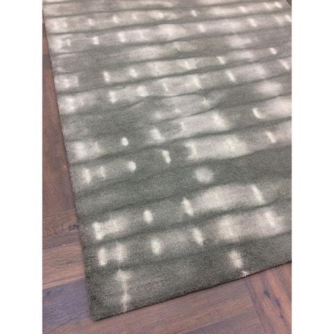 Grey Wool Handmade Big Indoor Modern Area Rug - 5' x 8'