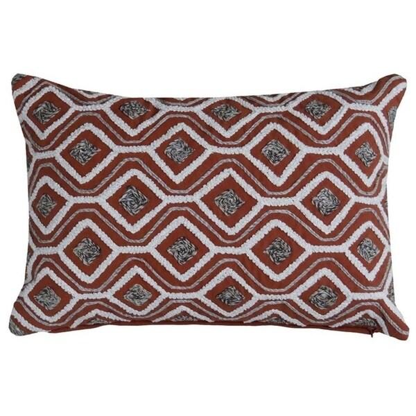 """Zwarte Throw Pillow Cover (14""""X20"""")"""