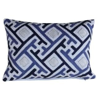 "Zenwave Throw Pillow Cover blue (14""X20"")"