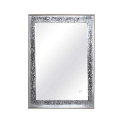 Dyconn Faucet Apollo 6400K LED Wall Mounted Backlit Vanity Bathroom Mirror with Touch On/Off - Silver