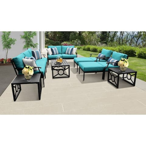 kathy ireland Madison Ave. 12 Piece Outdoor Aluminum Patio Furniture Set 12h