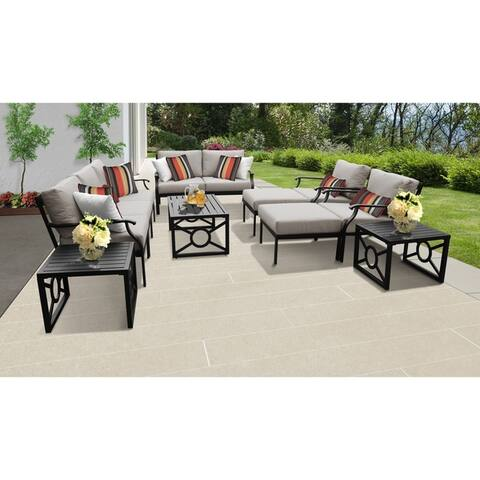Kathy Ireland Madison Ave. 12-piece Outdoor Aluminum Patio Furniture Set