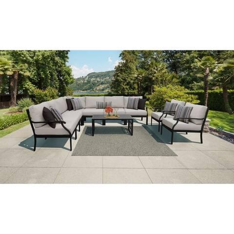 kathy ireland Madison Ave. 10 Piece Outdoor Aluminum Patio Furniture Set 10a