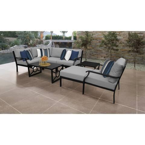 kathy ireland Madison Ave. 8 Piece Outdoor Aluminum Patio Furniture Set 08n