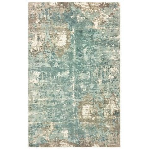 Francesca Blue/Grey Handmade Distressed Hi-low Area Rug