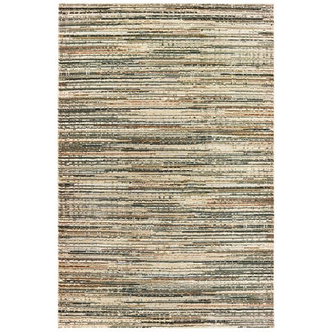Carbon Loft Blanchard Hi-low Textured Distressed Striped Area Rug