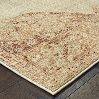 Rutherford Faded Medallion Area Rug