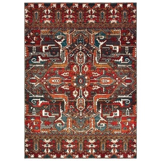 The Curated Nomad Sargent Tribal Medallion Red/ Orange Area Rug