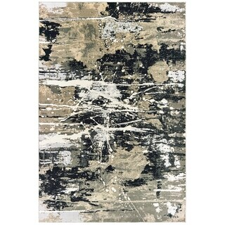 Carbon Loft McHugh Hi-low Textured Abstract Black and Gold Area Rug