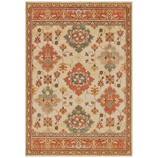 The Curated Nomad Claude Bordered Tribal Ivory Area Rug