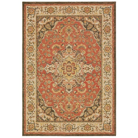 The Curated Nomad Claude Ornamental Medallion Area Rug