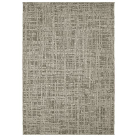 Tommy Bahama Boucle Etchings Grey Area Rug