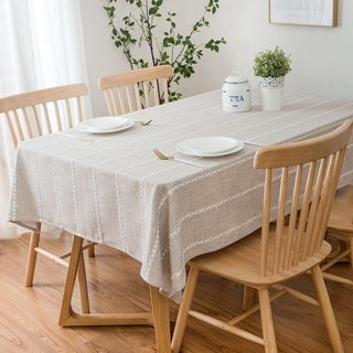 "Enova Home 54""x 78"" High Quality Rectangle Cotton and Polyester Tablecloth"