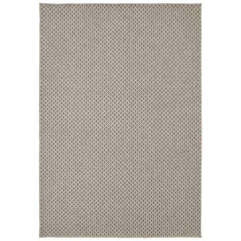 Tommy Bahama Boucle Solid Woven Wool Grey Area Rug