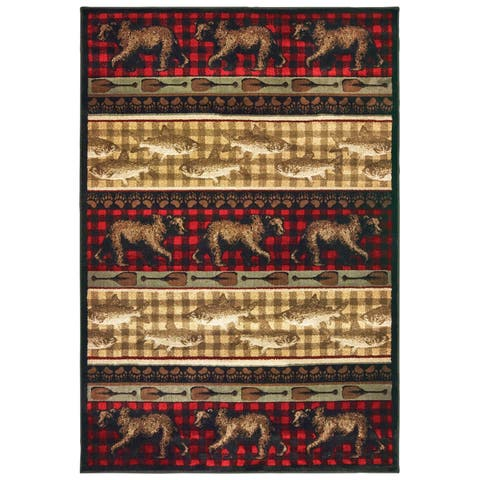 Westley Forest Parade Red/ Multi Area Rug
