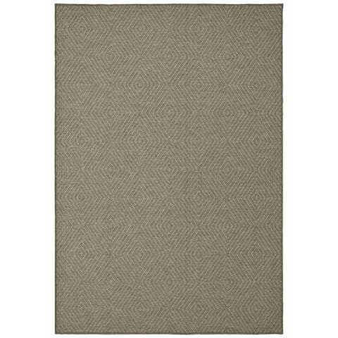 Tommy Bahama Boucle Diamond Panel Grey Area Rug