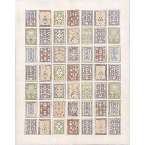 "Kazak Garden Design Hand Knotted Wool Pakistani Oriental Area Rug - 10'0"" x 8'0"""