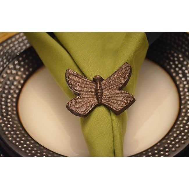 Butterfly Napkin Ring Set of 4 (Brown)
