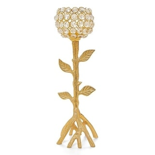 Crystal Candle Holder (Golden Tree)