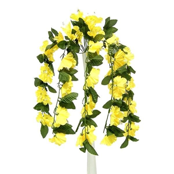 "26"" Hibiscus hanging bush x 9"