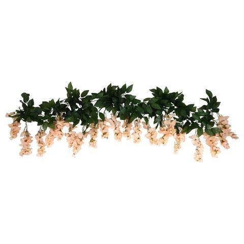 2 6-ft Long Wisteria Blossom Garland