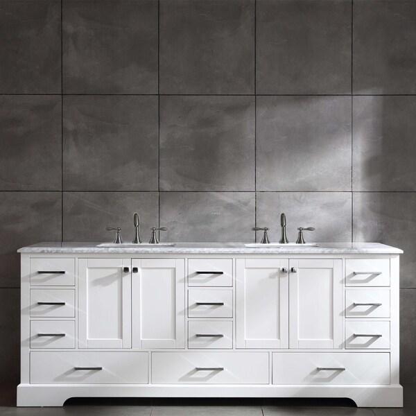 Eviva Storehouse 84 Inch White Bathroom Vanity