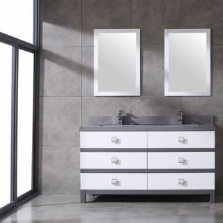 Eviva Sydney 60 Inch White and Grey Bathroom Vanity