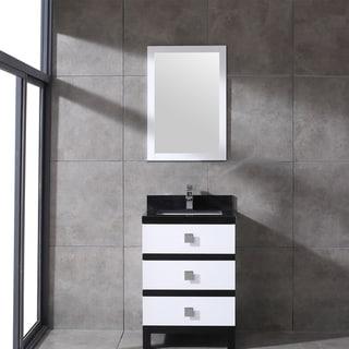 Eviva Sydney 24 Inch Black and White Bathroom Vanity
