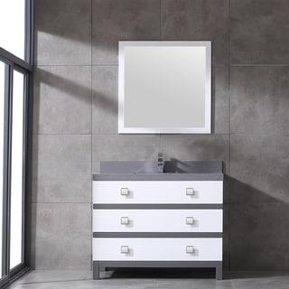 Eviva Sydney 42 Inch White and Grey Bathroom Vanity