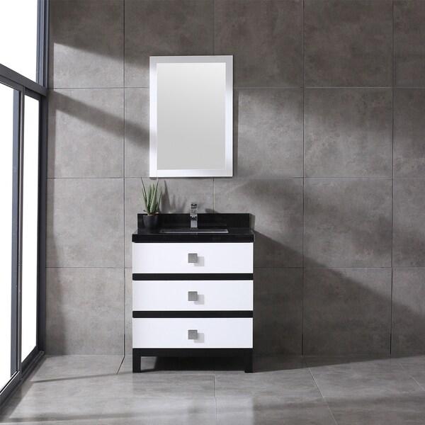 Eviva Sydney 30 Inch Black and White Bathroom Vanity