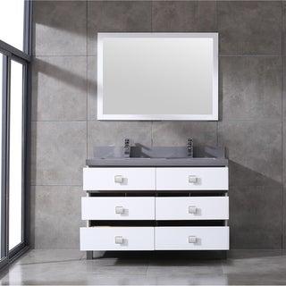 Eviva Sydney 48 Inch White and Grey Bathroom Vanity