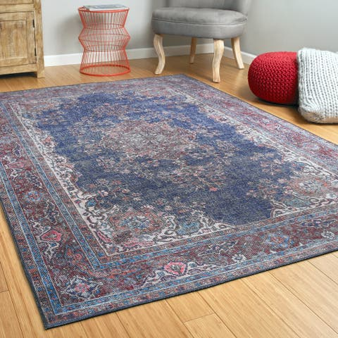 Ballard Vintage Printed Replica Indoor/Outdoor Rug