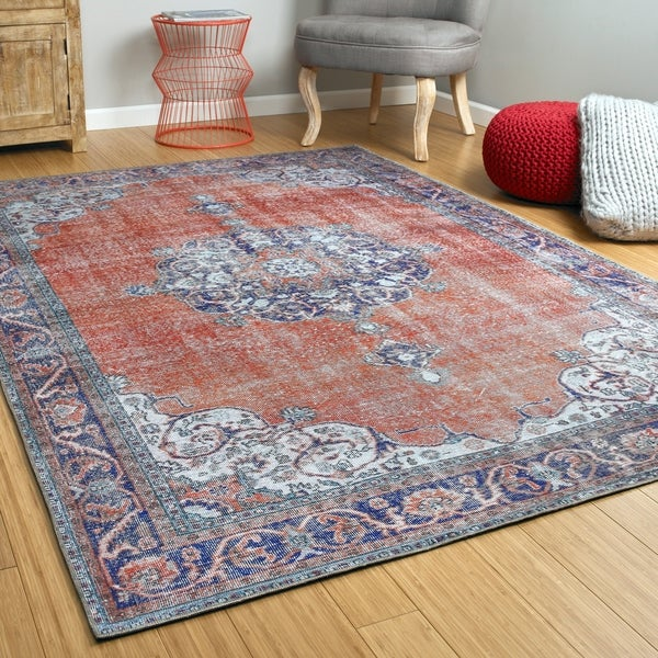 Bombay Home Ballard Orange Indoor/Outdoor Vintage-style Replica Rug