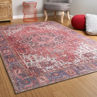 Bombay Home Ballard Red Indoor/Outdoor Vintage Printed Replica Rug