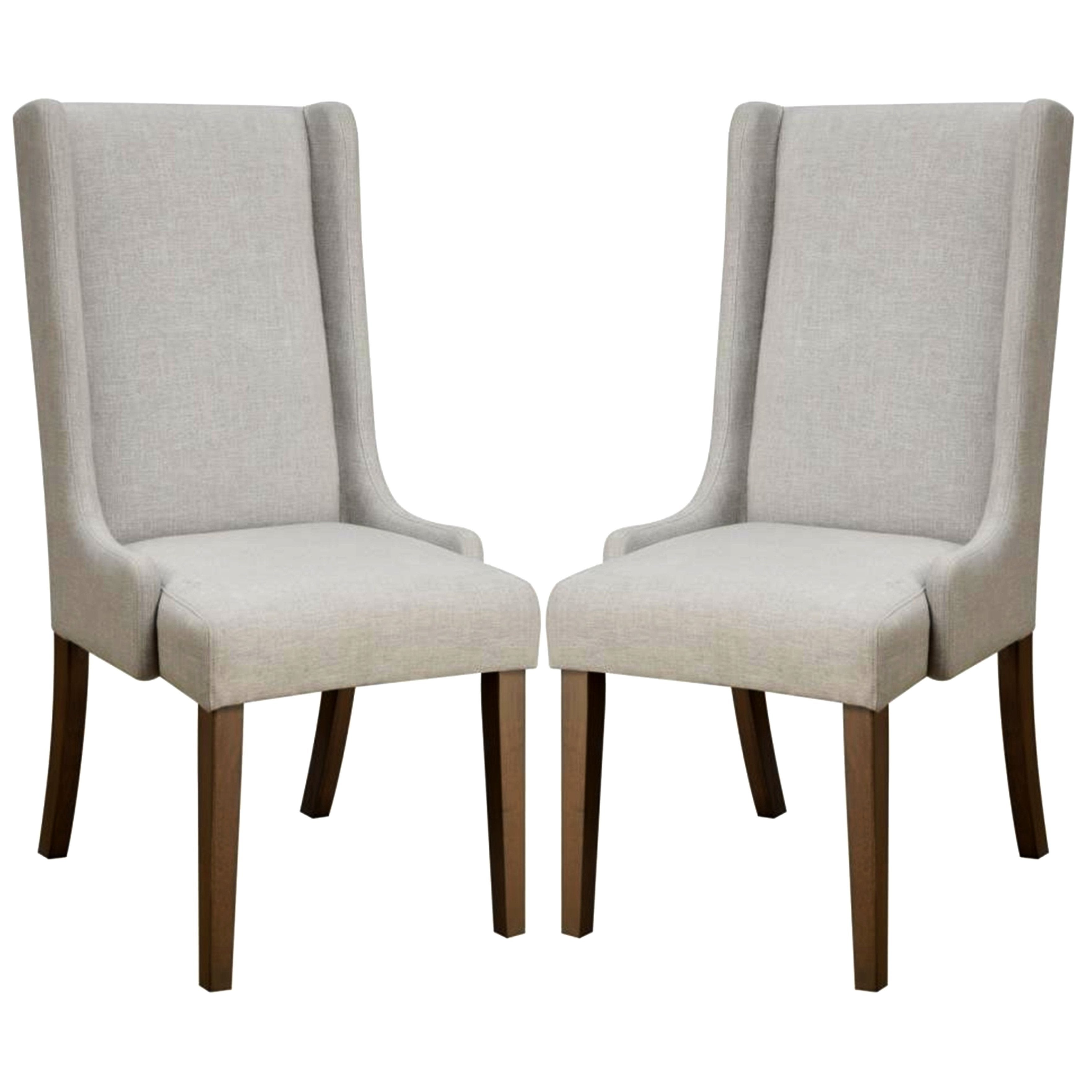 Surprising Mid Century Design Wing Back Dining Chairs Set Of 2 Pabps2019 Chair Design Images Pabps2019Com