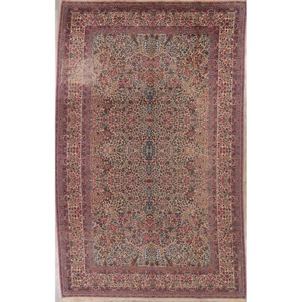 Shop Karastan All Over Floral Wool Usa Oriental Area Rug