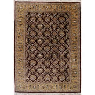 "Agra All-Over Hand Knotted Wool Indian Oriental Area Rug - 14'0"" x 9'7"""