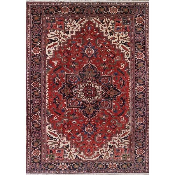 Heriz Geometric Hand Knotted Wool Oriental Persian Area Rug 15 3 X 9 11 On Sale Overstock 28045614