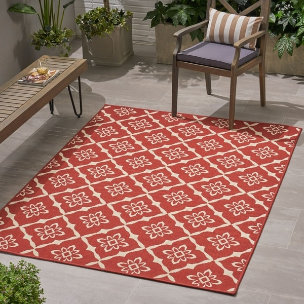 Christopher Wynter Art Rug Ivory: Shop Christopher Knight Home Tallevast Trellis Red/Ivory