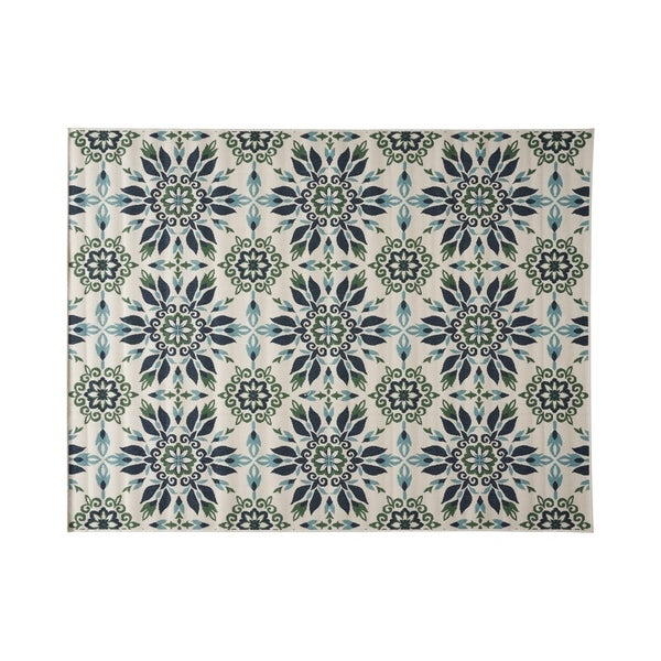 Christopher Wynter Art Rug Ivory: Shop Gladis Outdoor Medallion Area Rug, Ivory And Blue By