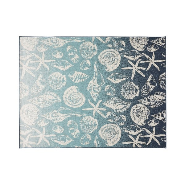 Christopher Wynter Art Rug Ivory: Shop Sea Breeze Outdoor Ombre Area Rug, Blue And Ivory By