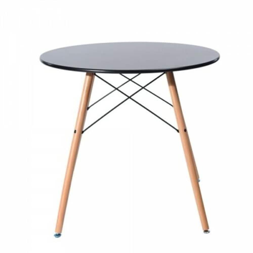 Carson Carrington Sabyholm Modern Kitchen Dining Table (Oak Finish - Black)