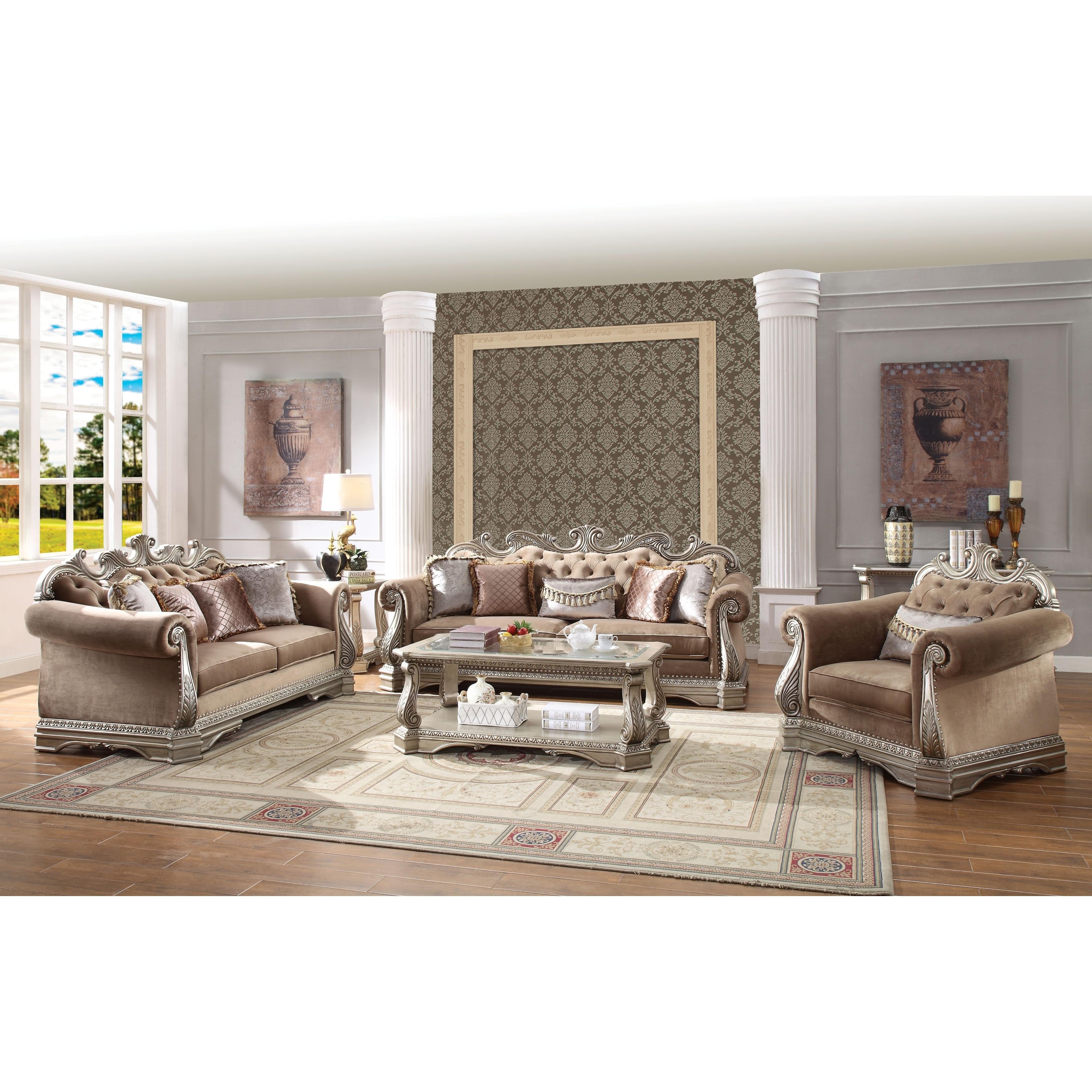 Luxurious Velvet Upholstered Sofa