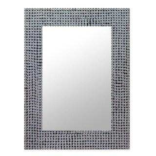 Handmade Silver Staccato Mirror (India)