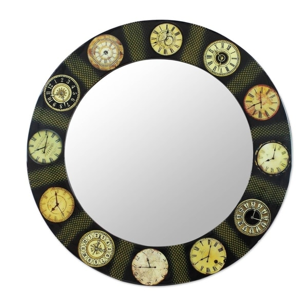 The Faces of Time Decoupage wall mirror