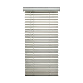 Porch & Den Jex Smooth Snow White Fauxwood Cordless 2-inch Blinds