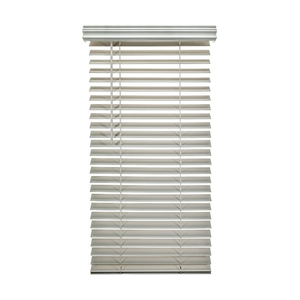 Porch & Den Jex Smooth Snow White Fauxwood Cordless 2-inch Blinds. Opens flyout.