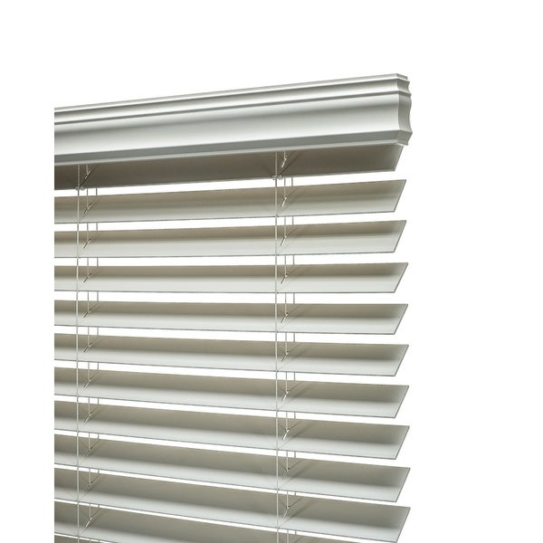 """18/"""" x 72/"""" 3/"""" Crown Valance 2/"""" Snow White PVC Smooth Foam-Wood Blinds NEW"""