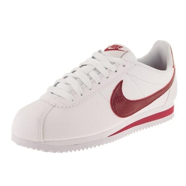 Damen Nike Classic Cortez Leather Silber Schuhe 807471 015